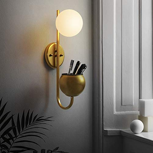 ZSAIMD Modern Iron Metal Wall Lamp Flower Pot 1-Light Wall Sconce Room Art Decor Fixtures Lighting for Bedroom Living Room Reading Living Room Hallway Study Villa Decoration E27 Edison