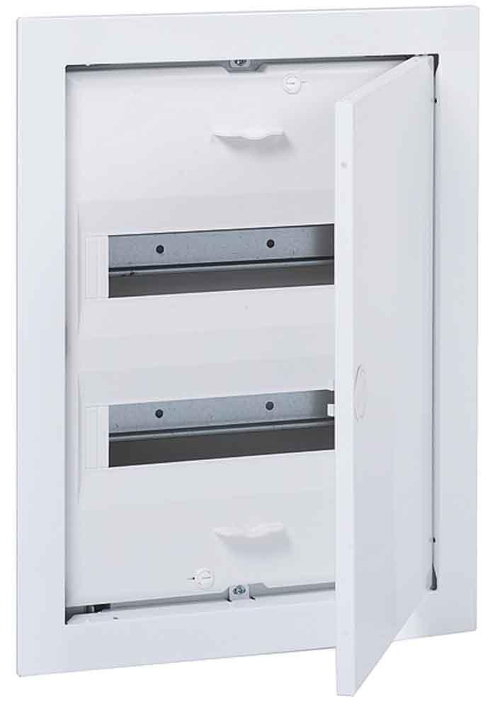 abb-entrelec uk500 –  Armoire encastrable uk524 N3 24 modules porte mé tallique/A