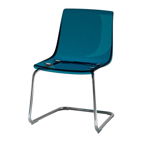 IKEA Chair, blue, chrome plated 1428.111423.1010 by IKEA