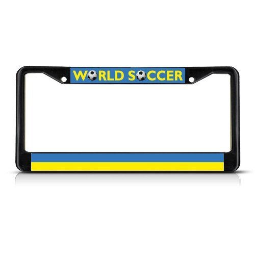 Guang trading UKRAINE Soccer Team Black Metal Heavy Duty License Plate Frame Tag Border by Guang trading