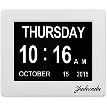 Amazon.com: SVINZ 3 Alarms Dementia Clock, 2 Auto-Dim