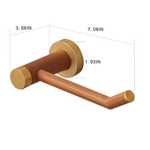 YuanDa Toilet Paper Holder Made of Ecological Wood Tissue Holder with Metal Core Wooden Appearance by YuanDa (Image #5)