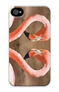 cool cover Pink Flamingos PC Case for iphone 4/4S