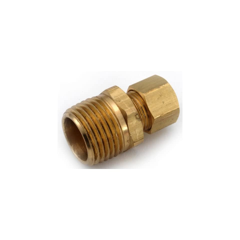 Anderson Metals 750068 1008 5/8 Inch  by 1/2 Inch  Compression Coupling