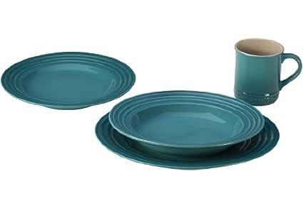 Le Creuset Stoneware 16-Piece Dinnerware Set Caribbean  sc 1 st  Amazon.com & Amazon.com | Le Creuset Stoneware 16-Piece Dinnerware Set Caribbean ...