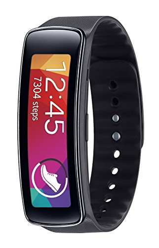 Samsung Gear Fit Fitness Watch with Heart Rate Monitor - Black (Certified Refurbished)