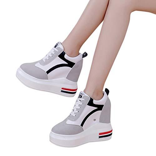 a0afed77f8a De Chaussures Dodumi Printemps Sport Mode Épaisse Femmes À Femme Gris  Culotte Semelles Épaisses Augmentation Sport Baskets ...