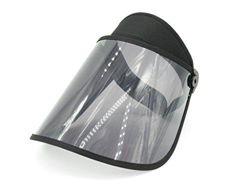 (Sun Visor Hat Black Transparent Brim No Logo Design (Black))