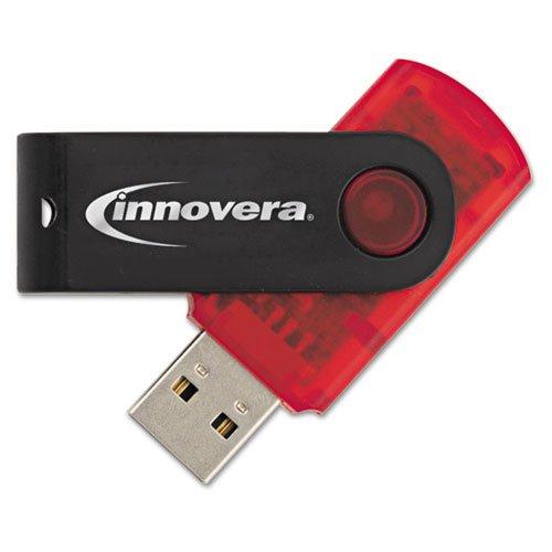Innovera USB 2.0 Flash Drive, 64 GB, Red -