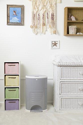 41GnqV7RinL - Dekor Plus Hands-Free Diaper Pail, White