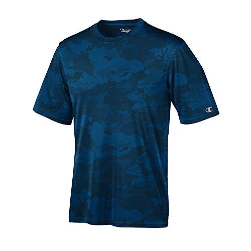 Champion de hombre 4oz. doble seco rendimiento camiseta - Navy Blue Camo