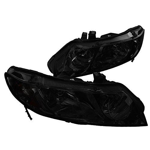 Spec-D Tuning 2LH-CV064G-RS Smoke Headlight (06-Up Honda Civic 4Dr) (Honda Civic Plug 4dr)