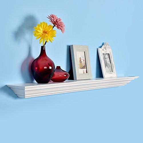 Cheap  WELLAND Corona Crown Molding Floating Wall Photo Ledge Shelves Fireplace Mantel Shelf..