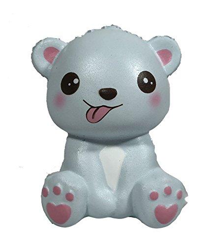 (Mini Happy Polar Bear Squishy Blue Tongue Version)