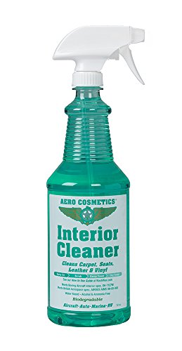 Aero Cosmetics Interior Cleaner, Carpet Cleaner, Seat Cleaner, Fabric Cleaner, Cleans Carpets, Seats, Leather Vinyl, Aircraft Quality your Car Boat RV Meets Boeing Airbus Specs. (32 ounce)