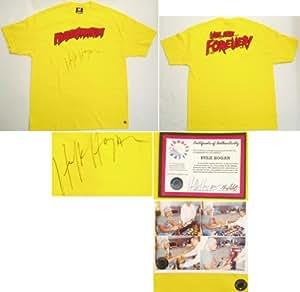 Hulk Hogan Autographed Hulkamania Yellow T-Shirt