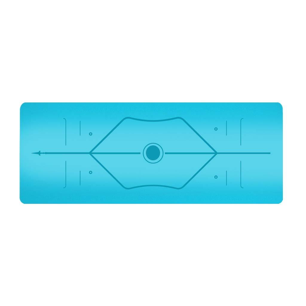 オプションの天然PUラバーヨガマットアンチスキッドスポーツフィットネスマット5 mmマルチカラー B07P1TFS9V BlueB BlueB