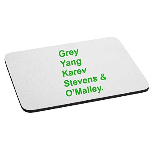 Yang Karev Stevens O'Malley Anatomy Doctors Mouse Pad - Lime ()