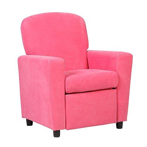 Kids Sofa Armrest Chair Contemporary Pink Microfiber Kids Recliner Children Living Room Toddler Furniture