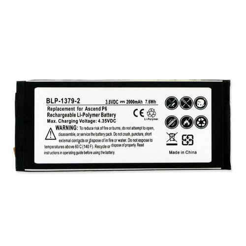 Huawei P6-U06 Cell Phone Battery (Li-Pol 3.8V 2020 mAh) Internal Battery - Replacement For Huawei HB3742A0EBC Cellphone Battery