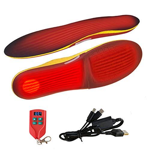 Verwarmbare thermische binnenzool, inlegzolen met batterijmodus en afstandsbediening, 3 temperatuuraanpassing…