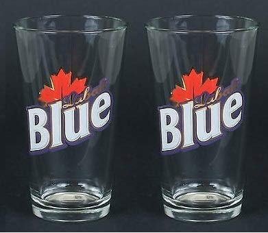Labatt Blue Beer Pint Glasses Set of 2