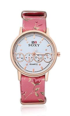 SOXY Women's Analog 4 Small Dial Decoration Six Color Cloth Band Simple Pretty Wrist Watch