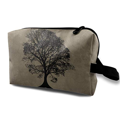 (Storage Bag Travel Pouch Cosmetic Stationery Holder Tree Life Purse Organizer Power Bank Data Wire)