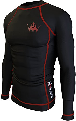 XStream Rash Guard for Men - Long or Short Sleeve Rash Guards Shirt for Surfing Canoe Paddle Boarding bodysurfing kitesurfing kayaking and Other Water Sports and Activities (Long Sleeve, XXL)