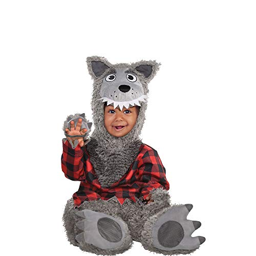 AMSCAN Baby Wolf Halloween Costume for Infants, 6-12 Months, with Included Accessories]()