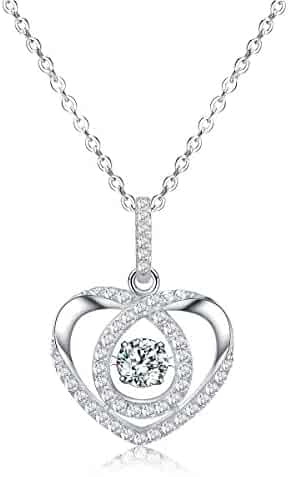 """Necklace, Heart-Shaped Pendant Necklace, Sable """"Swirl of Affection"""", Best Idea Gifts for Teen Girls Women Girlfriend"""