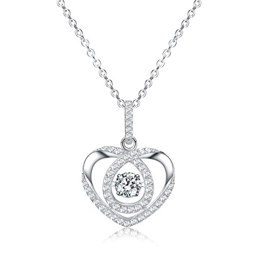 Sable Heart-Shaped Pendant Necklace, Swirl of Affection, Best Idea Gifts for Teen Girls Women - Magically Displays