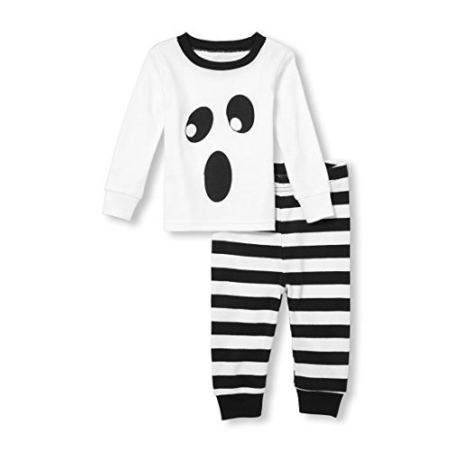 The Children's Place Baby Holiday Long Sleeve Pajama Set, White -