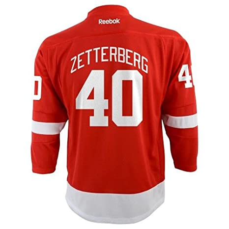 new product ae4ab eb09e Reebok Henrik Zetterberg Youth Jersey Red #40 Detroit Red Wings Youth  Replica Jersey