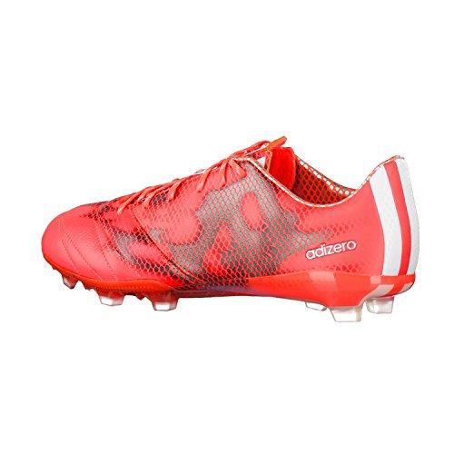adidas F50 Adizero Firm Ground (Leather) - zapatillas de fútbol de piel hombre rojo - rojo