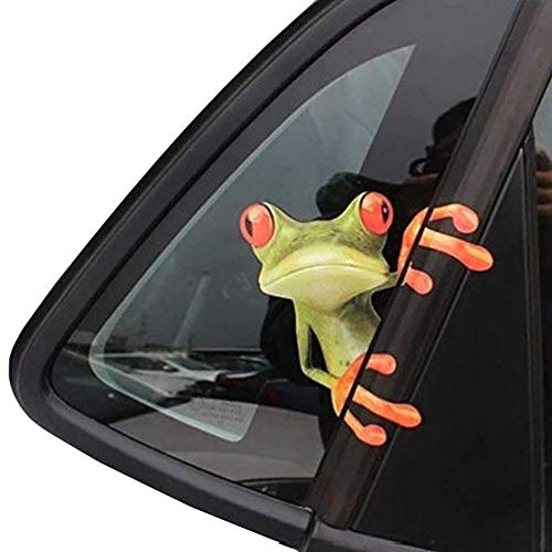 (OKDEALS 3D Cute Peep frog funny car stickers Truck Window Vinyl Decal Graphics Auto 2pcs )