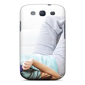 Galaxy S3 Hard Back With Bumper Silicone Gel Tpu Case Cover Girls Couch Books