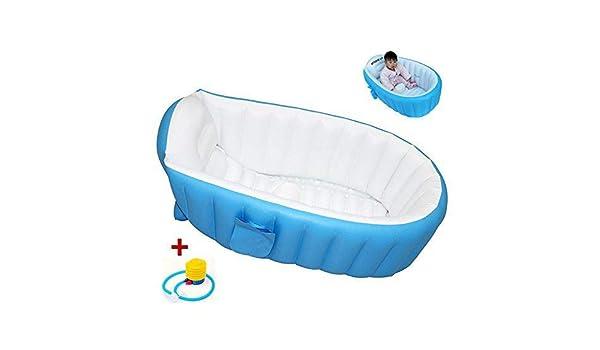 Lzour Bebé Suave bañera niños Inflable Anti-resbaladizo Piscina de ...