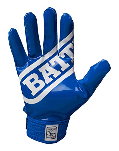 Battle Youth DoubleThreat Football Gloves, Blue, Small -