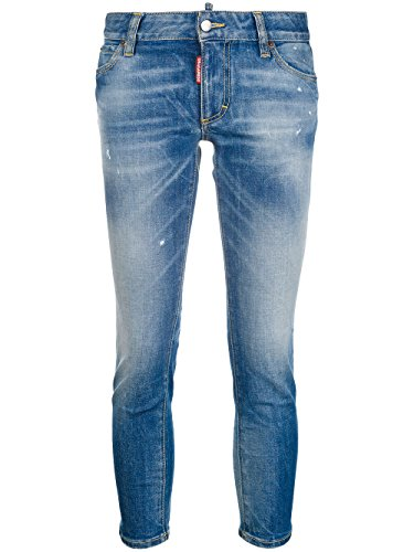 Blu S75LB0005S30595470 Donna Jeans Cotone DSQUARED2 nwqX0Iq