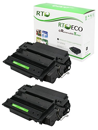Renewable Toner Compatible Toner Cartridge High Yield Replacement for HP 51X Q7551X for Laserjet M3027 MFP M3035 MFP P3005 (Black, 2-Pack) (Toner For Hp Laserjet P3005)