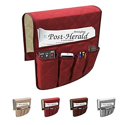 Tasca portaoggetti multiuso per divano, 6scomparti, porta telecomando, impermeabile Beige 6scomparti Newmeil