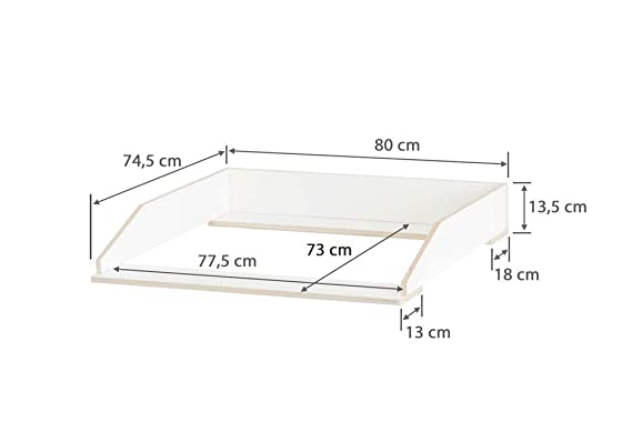 Accesorio para cambiador para cómoda Ikea Nordli de 43 cm de ...