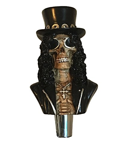 (Zombie Rock Star Skull Beer Tap Handle for Kegerators and Bars Dead Skeleton Walking)
