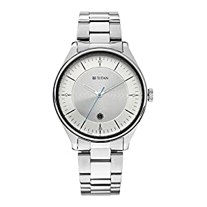 Titan Autumn-Winter 20 Analog Silver Dial Men's Watch-1834SM01 / 1834SM01