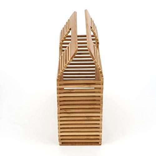 main creusent en unie mode main dehors carrée sac femmes forme de à pour à de achats de couleur voyager de sac des uniques bambou Les le pwaA8ZqA0