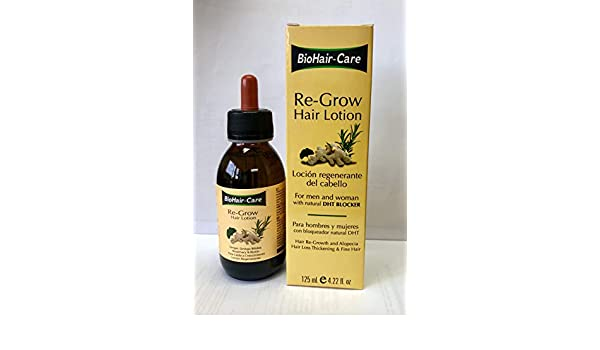 Amazon.com : RE-GROW HAIR LOTION 125ML GENGIBRE, GINKGO BILOBA, ROSEMARY & BIOTIN : Beauty