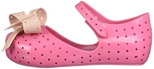 Pictures of Mini Melissa Girls' Mini Furadinha XI Ballet Flat, Pink, 10 Medium US Toddler 5