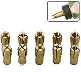 Artensky 10Pcs Brass Drill Chuck Collet Bits 0.5-3.2mm Accessories Fits Dremel Rotary Tools