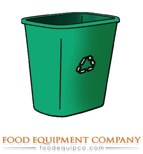 Rubbermaid FG295606GRN Garbage Can Deskside Recycling Container medium 28 quarts